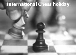 Chess holiday logo